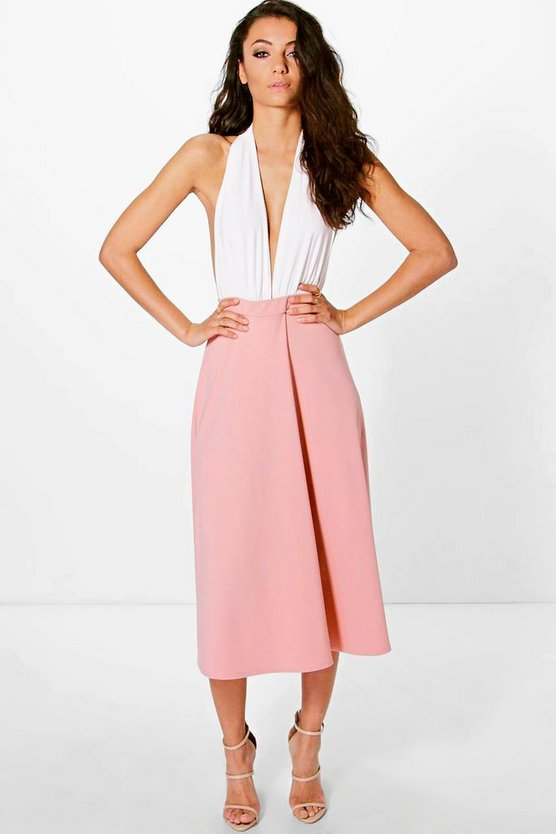 Tall Lola Scuba Full Circle Midi Skirt