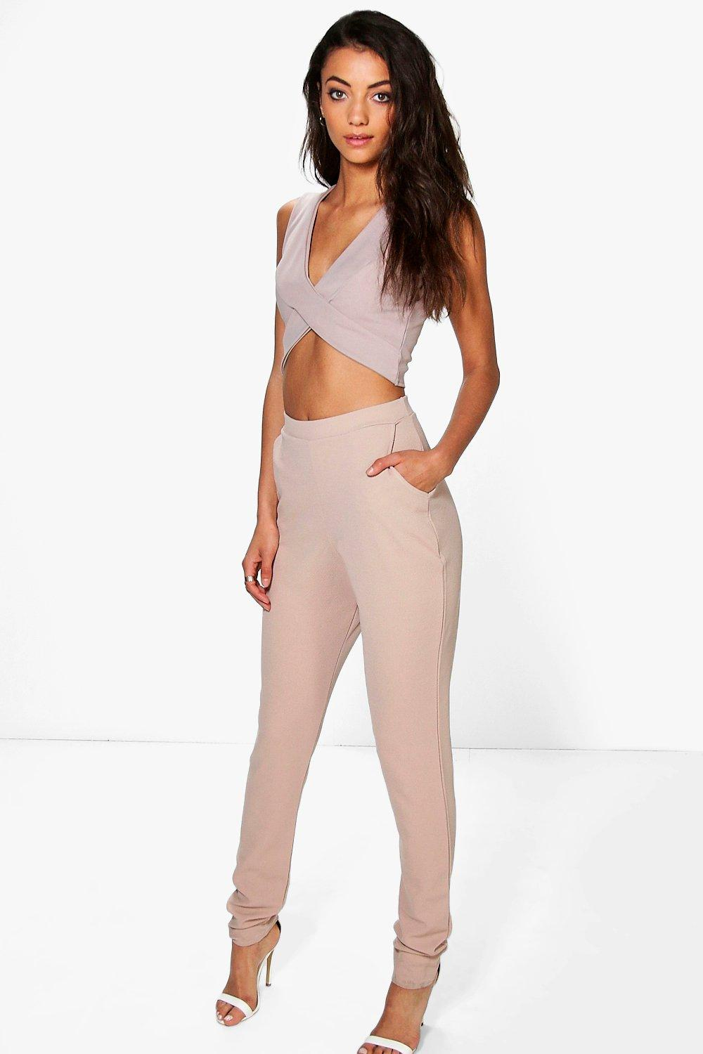 Tall Eva Skinny Crepe 2 Pocket Trousers