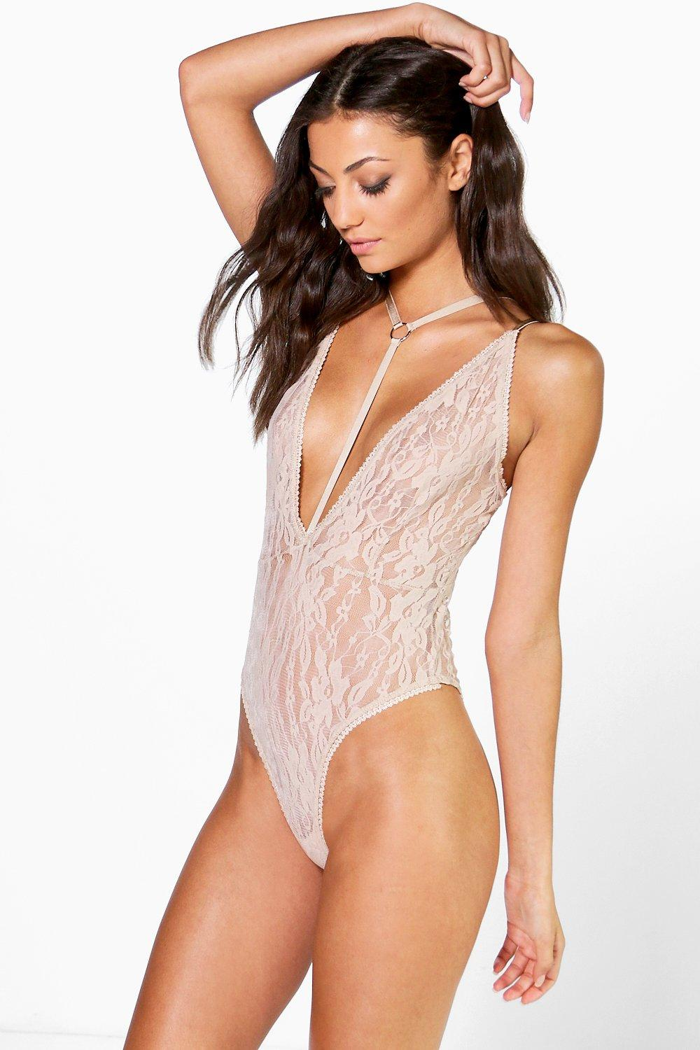 Tall Zeshan Harness Deep Plunge Lace Body