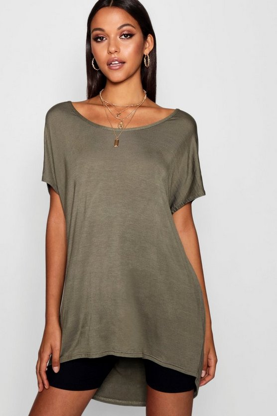 Tall Jasmine Oversized Scoop Neck Tee