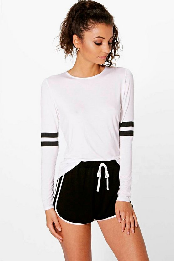 Tall Teighan Baseball Stripe Long Sleeve Tee