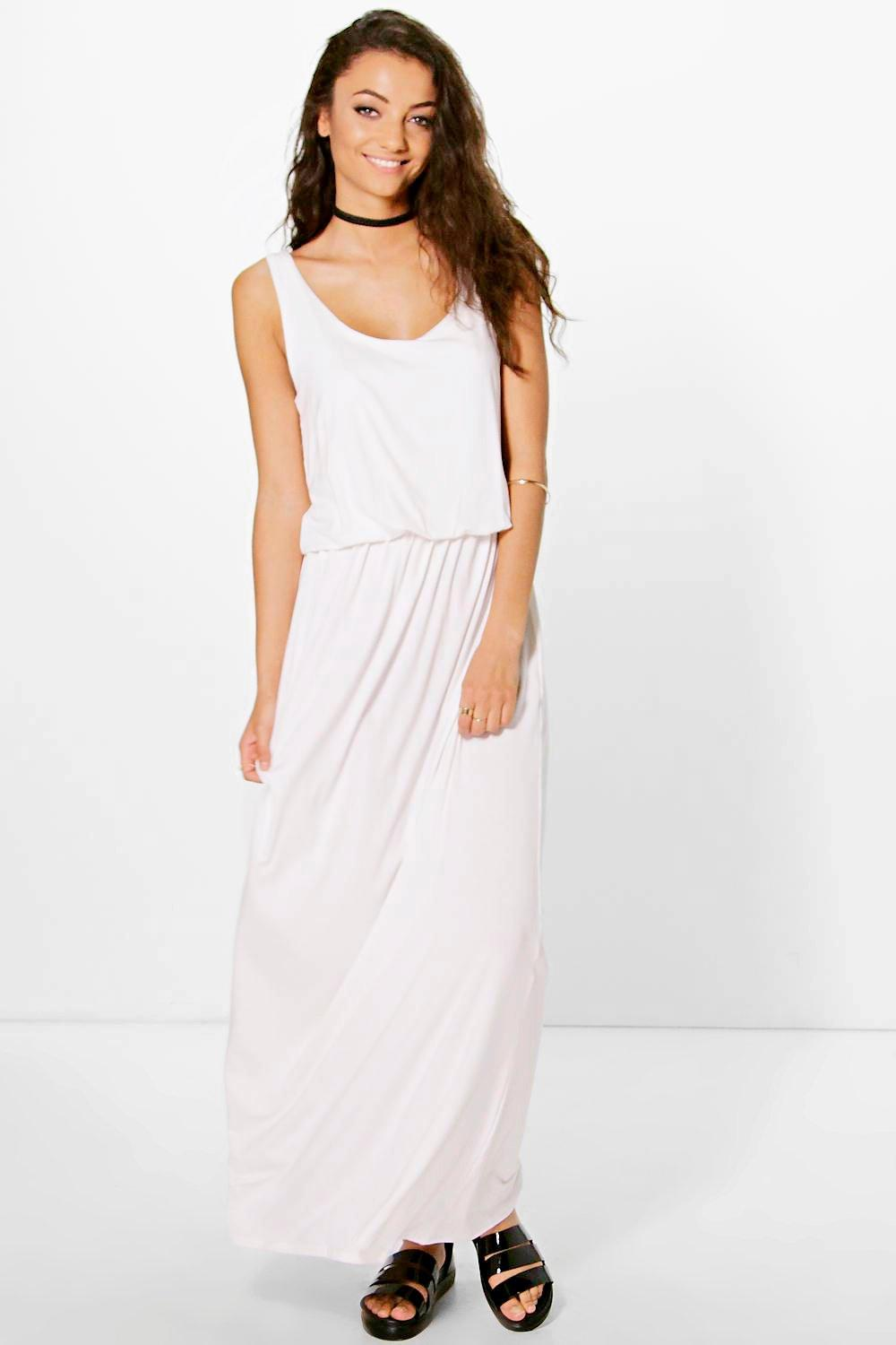 Tall Dalia Rouched Plunge Waist Maxi Dress