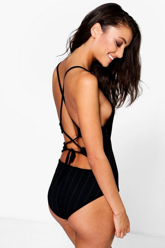 Tall Naimh Crochet Look Lace Up Back Body