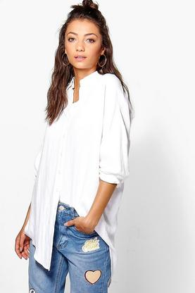 Tall Kayla Linen Look Oversized Shirt