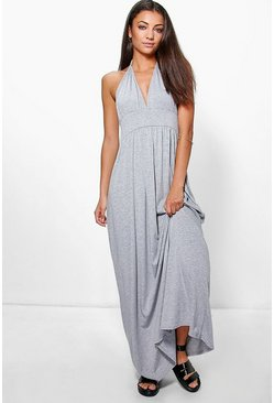 Tall Lailah Rouched Waist Racer Back Maxi Dress