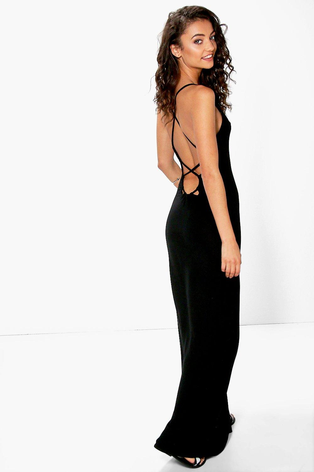Tall Mei Lace Up Back V Neck Maxi Dress