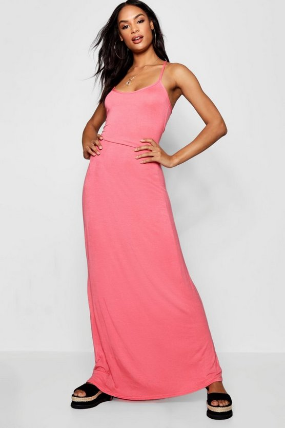 Tall Kizzie Cross Back Strappy Maxi Dress