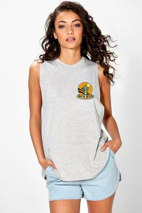 Tall Rosa Cactus Patch Oversized Vest