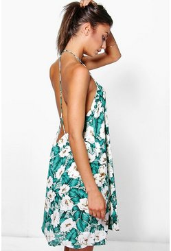 Tall Lani Printed Strappy Back Dress