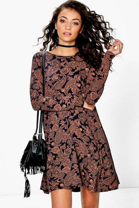 Tall Lilian Boho Printed Swing Dress