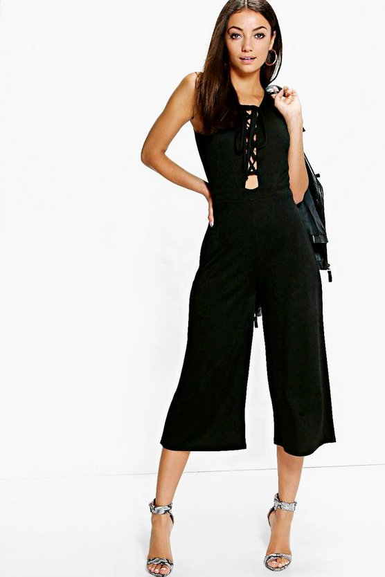 Tall Monica Lace Up Jumpsuit