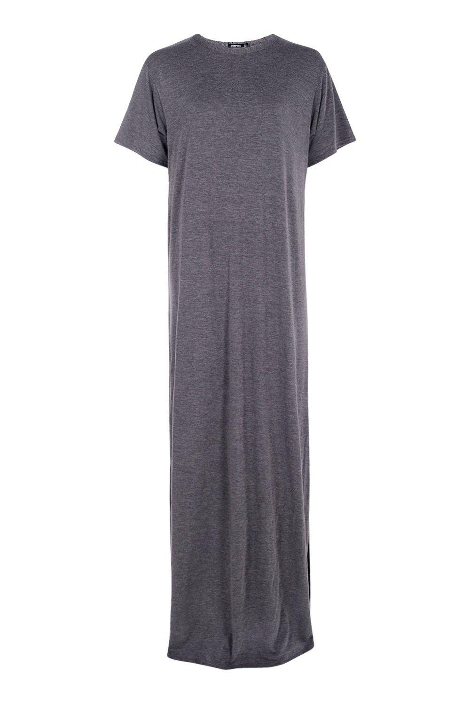 Boohoo Womens Tall Delila Split Side T Shirt Maxi Dress Ebay