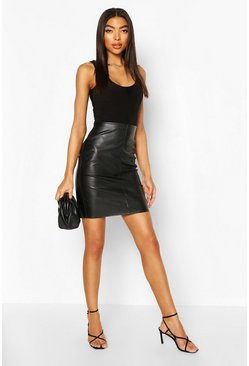 Tall Millie Leather Look Mini Skirt