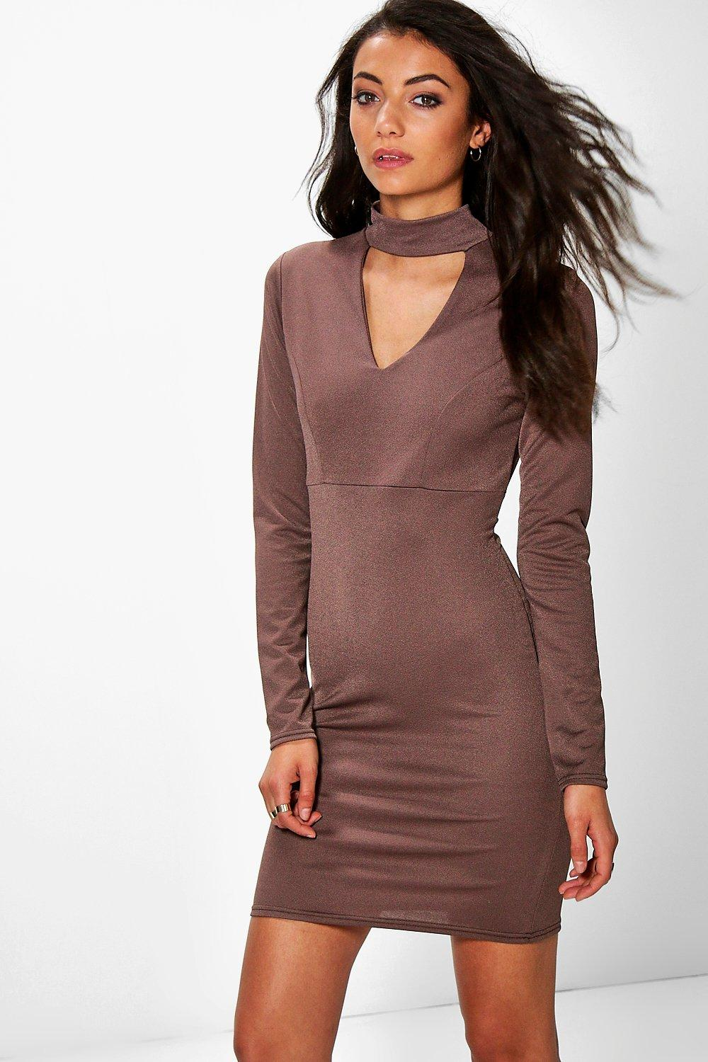 Tall Lissa Cut Out Plunge Mini Dress