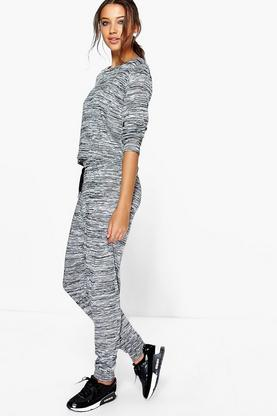 Tall Lara Space Dye Lounge Top & Jogger Set