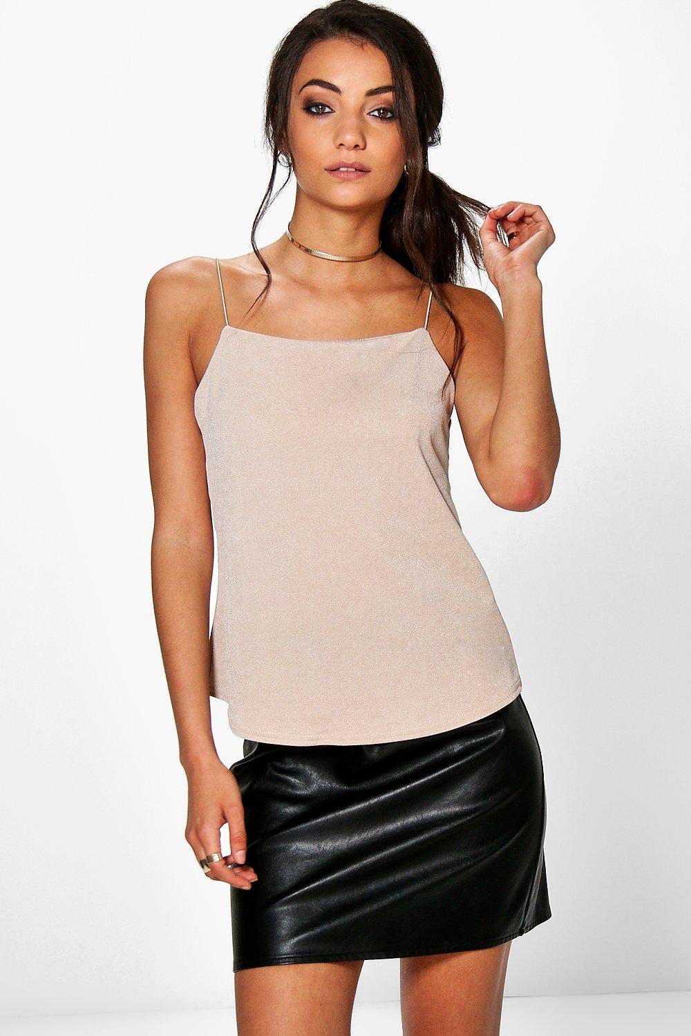 Tall Ruby Elastic Strap Texture Cami