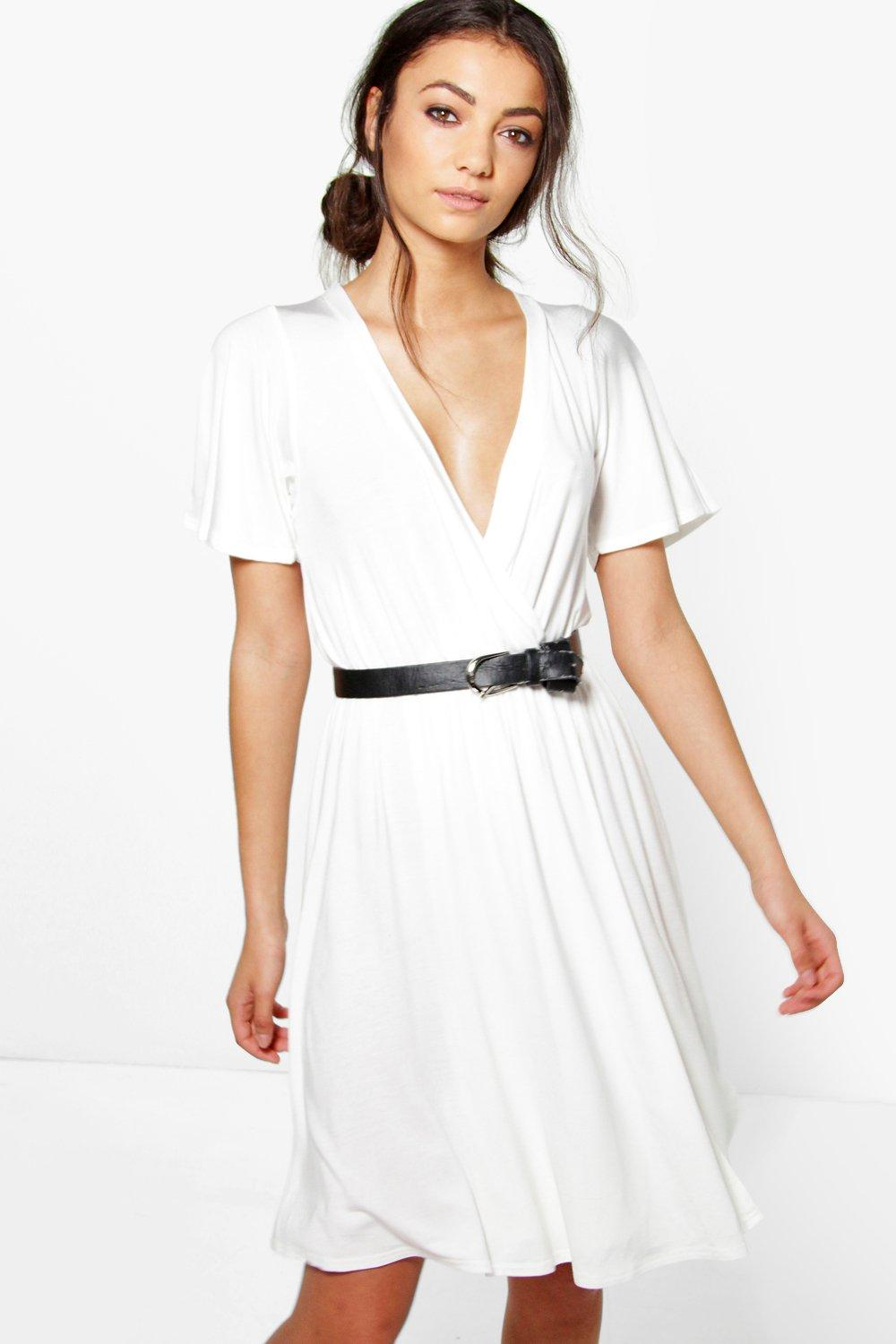 Tall Lianne Wrap Front Jersey Dress