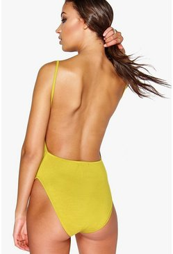 Tall Leah Backless Basic Jersey Body