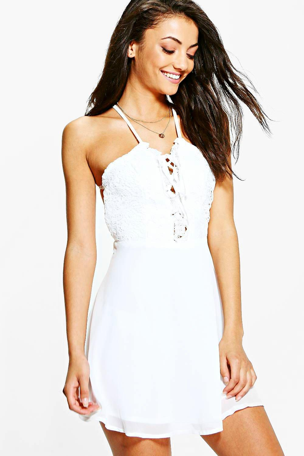 Tall Cora Crochet Top Midi Dress