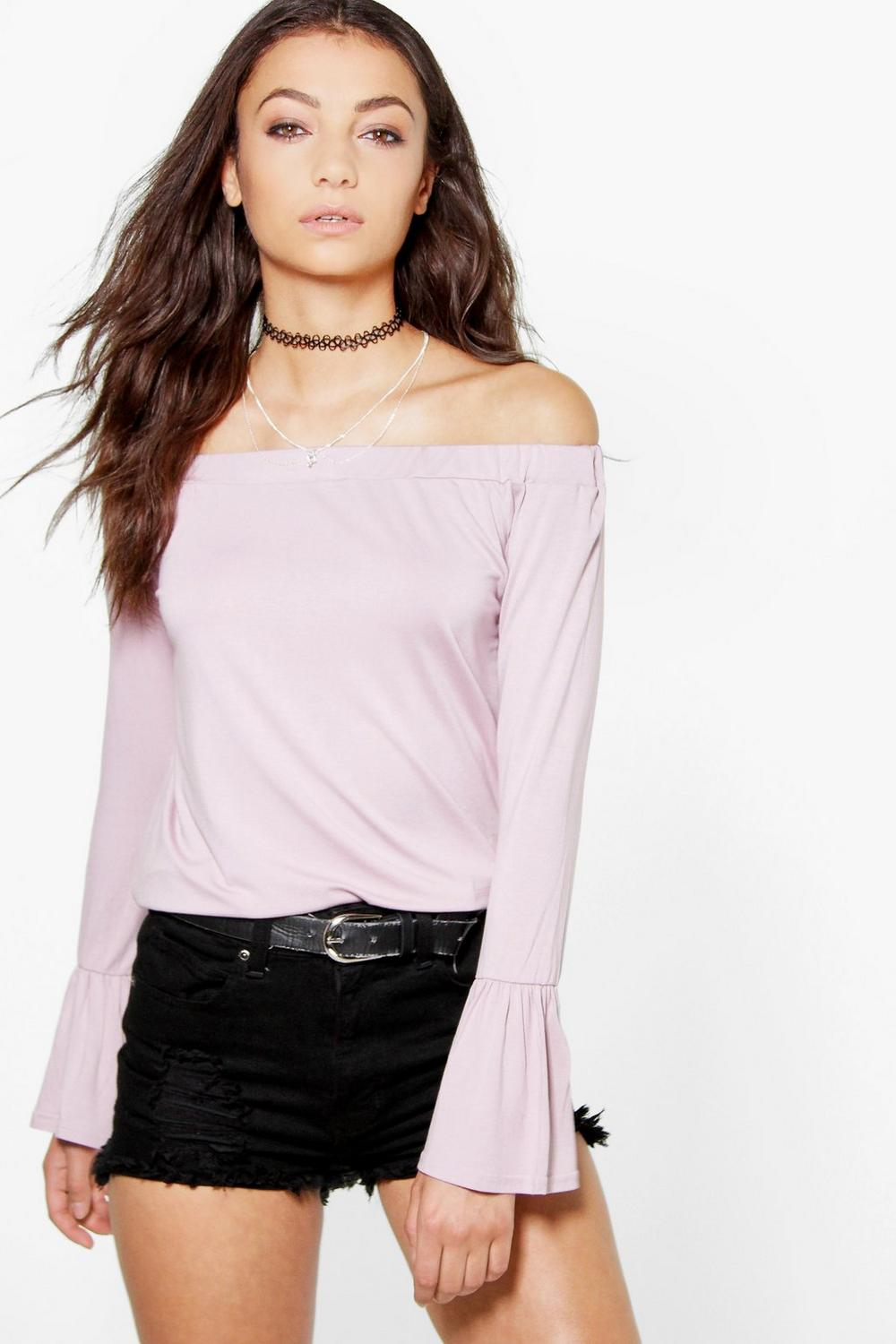 Tall Rhona Off The Shoulder Bell Sleeve Top
