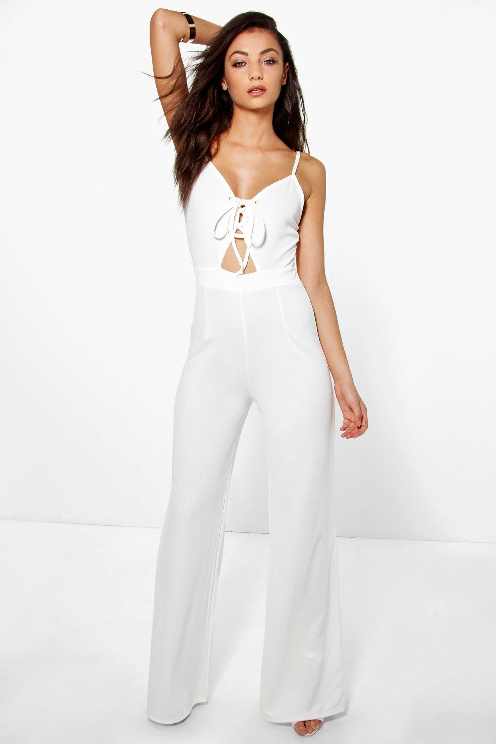 Tall Lana Lace Up Front Jumpsuit