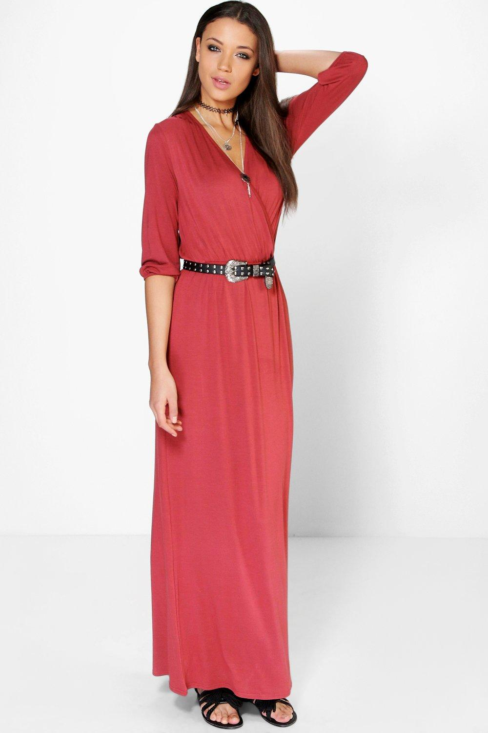 Tall Mia Wrap Front Maxi Dress