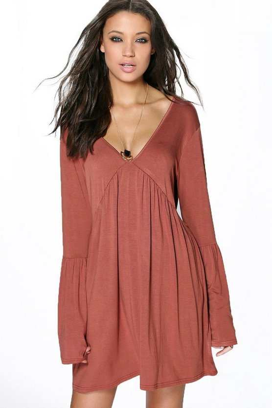 Tall Millie V Neck Swing Dress