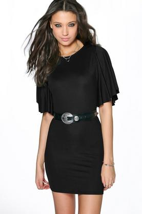 Tall Serina Flute Sleeve Bodycon Dress