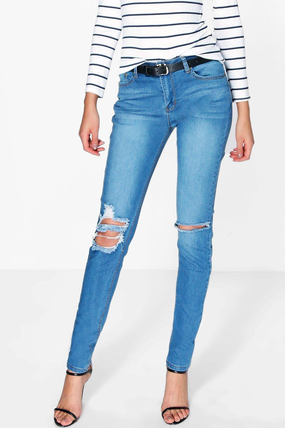 Tall Ella Ripped Knee Skinny Jean