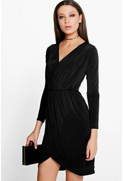 Tall Abela Slinky Wrap Dress