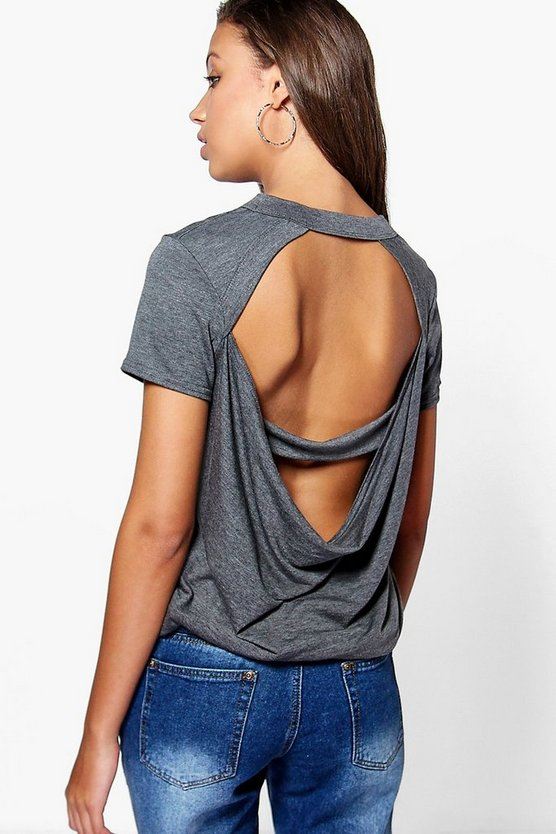 Tall Marli Oversized Cowl Back Tee