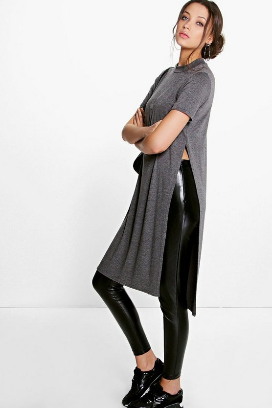 Tall Zenna Side Split Tunic TShirt