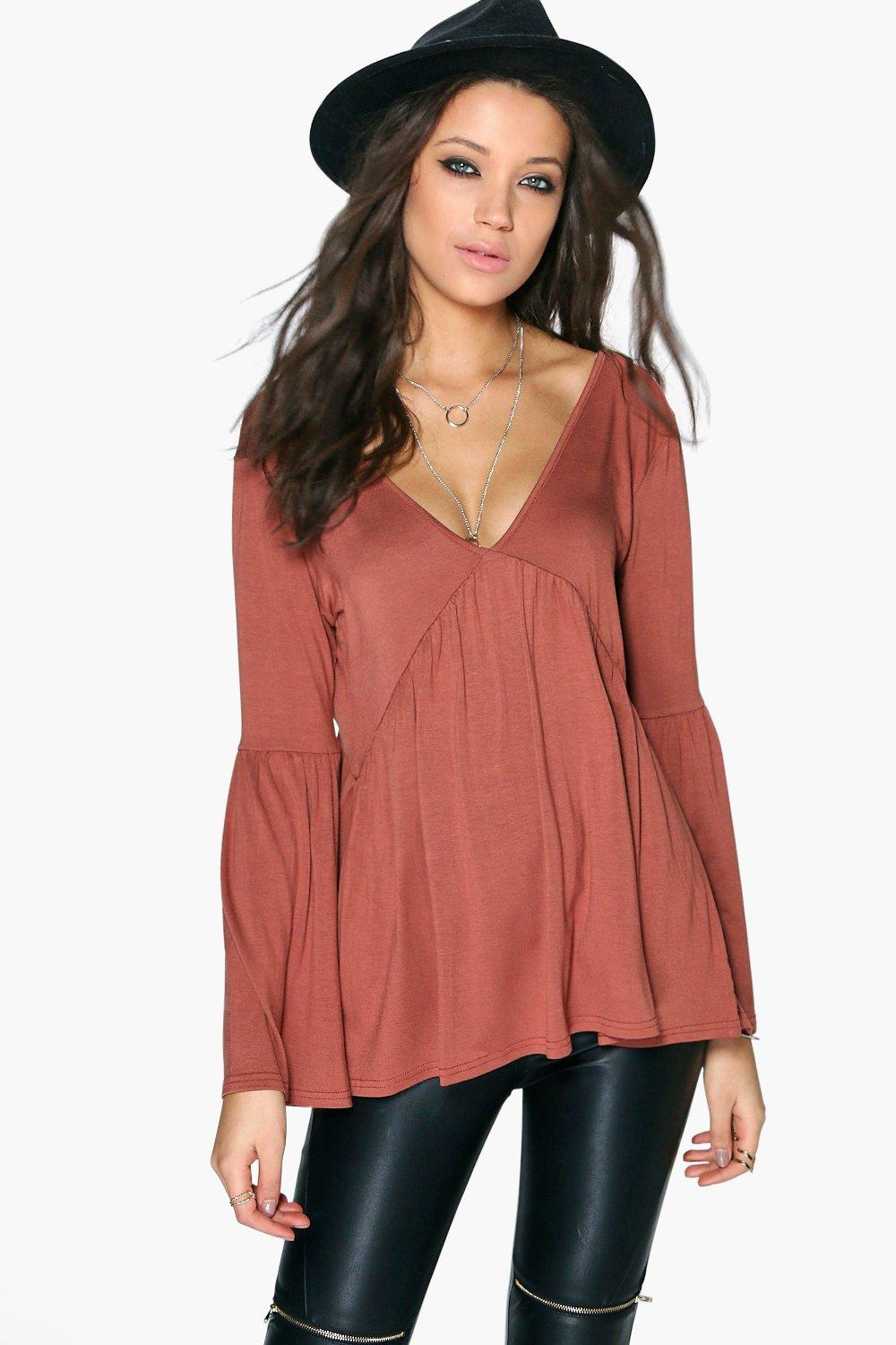 Tall Erika Long Sleeve Smock Top