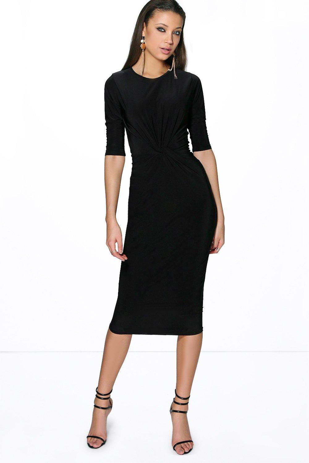 Tall Millie Tye Detail Slinky Midi Dress