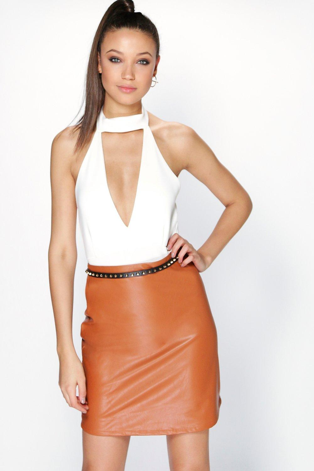 Tall Sahara Pu A Line Skirt
