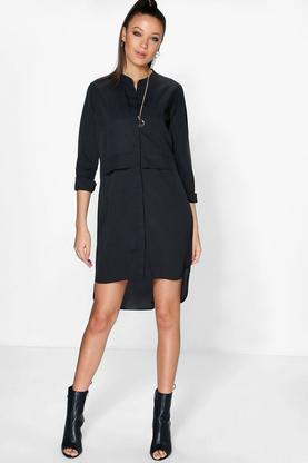 Tall Betty Woven Concealed Placket Shirt Dress