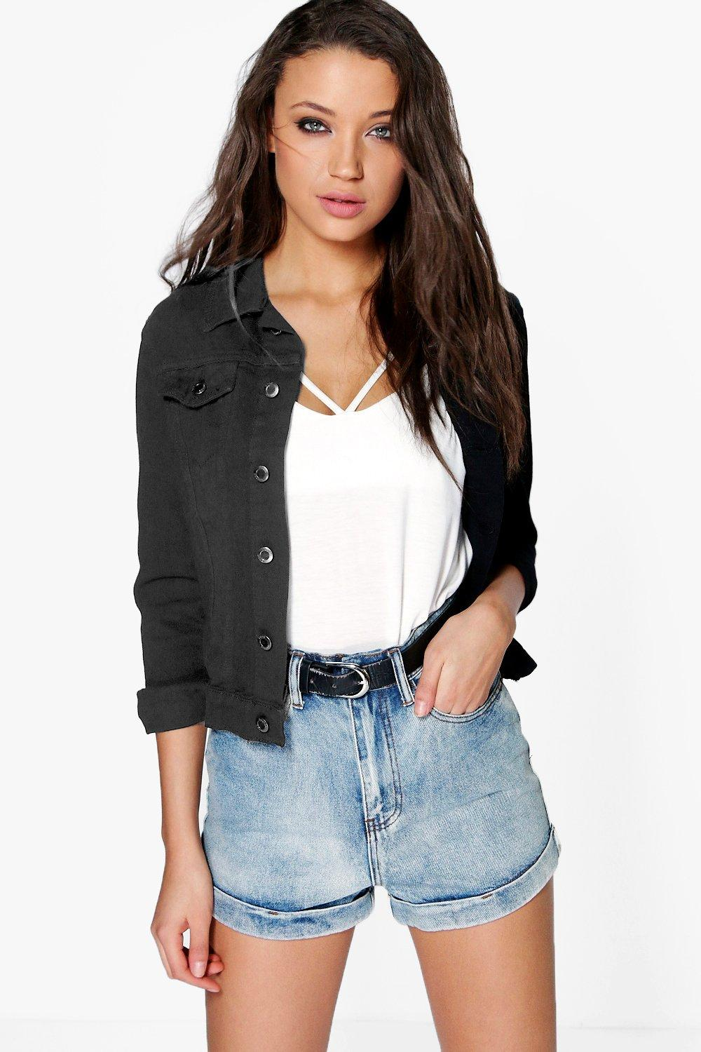 Tall Daisy Denim Jacket