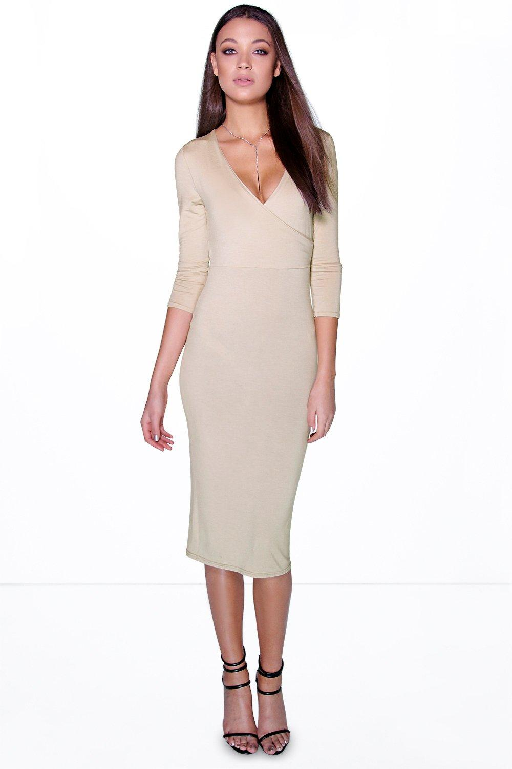 Tall Kelsey Wrap Front Midi Dress