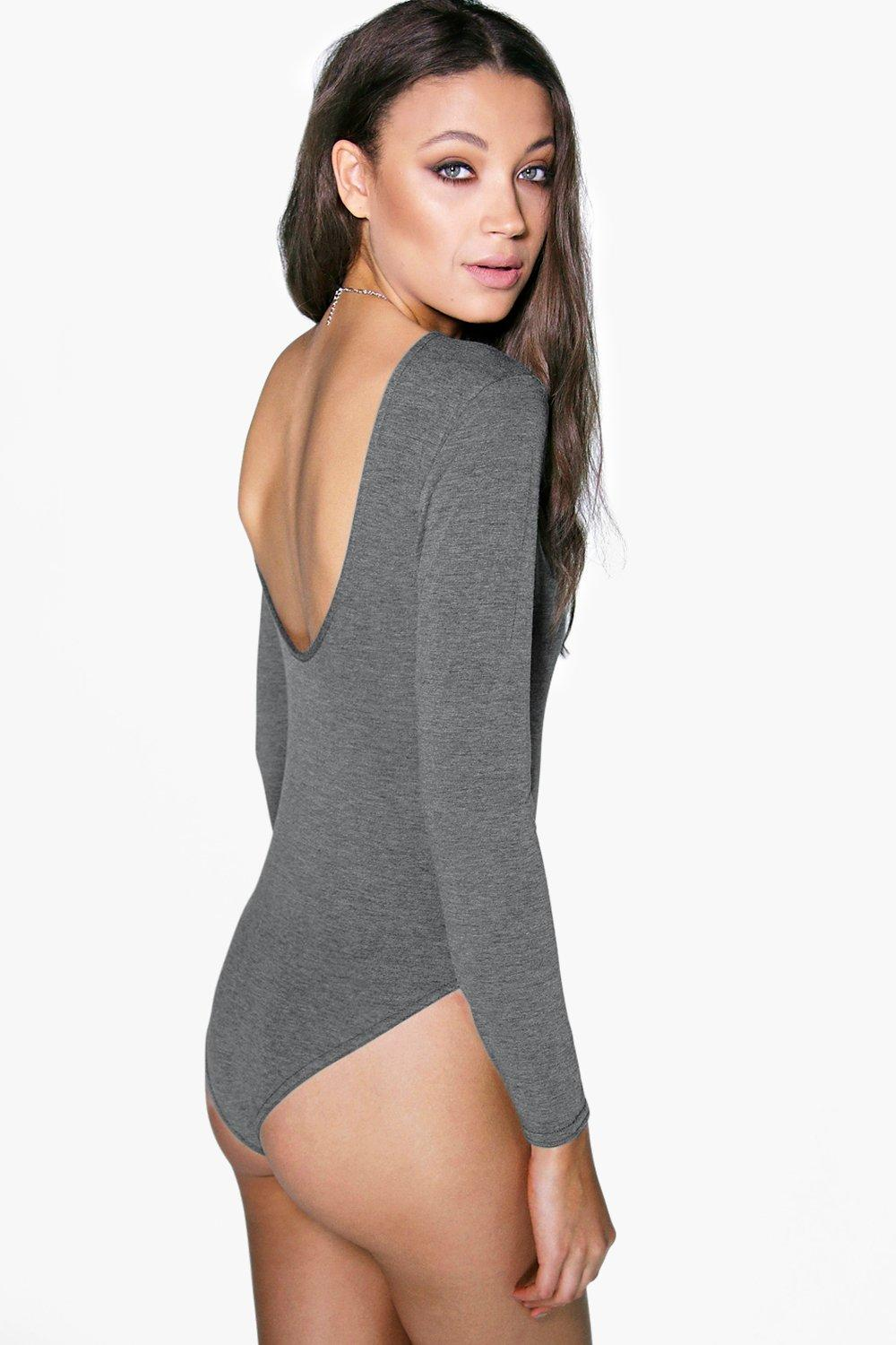 Tall Millie Scoop Back Basic Bodysuit