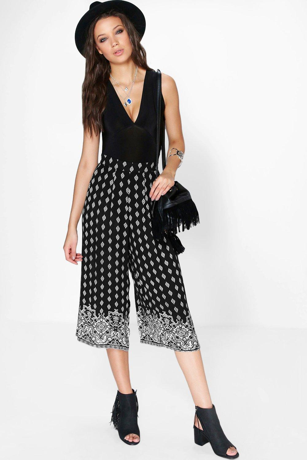 Tall Cora Placement Printed Culotte