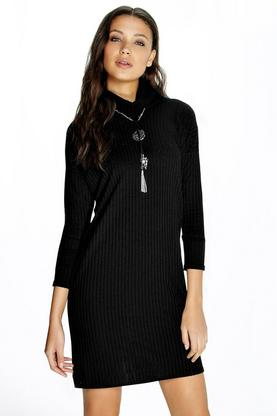 Tall Nara Knitted Roll Neck Dress