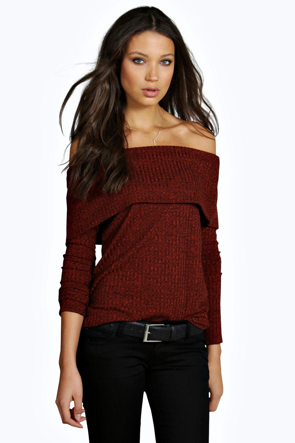 Tall Ruby Large Rib Off The Shoulder Top