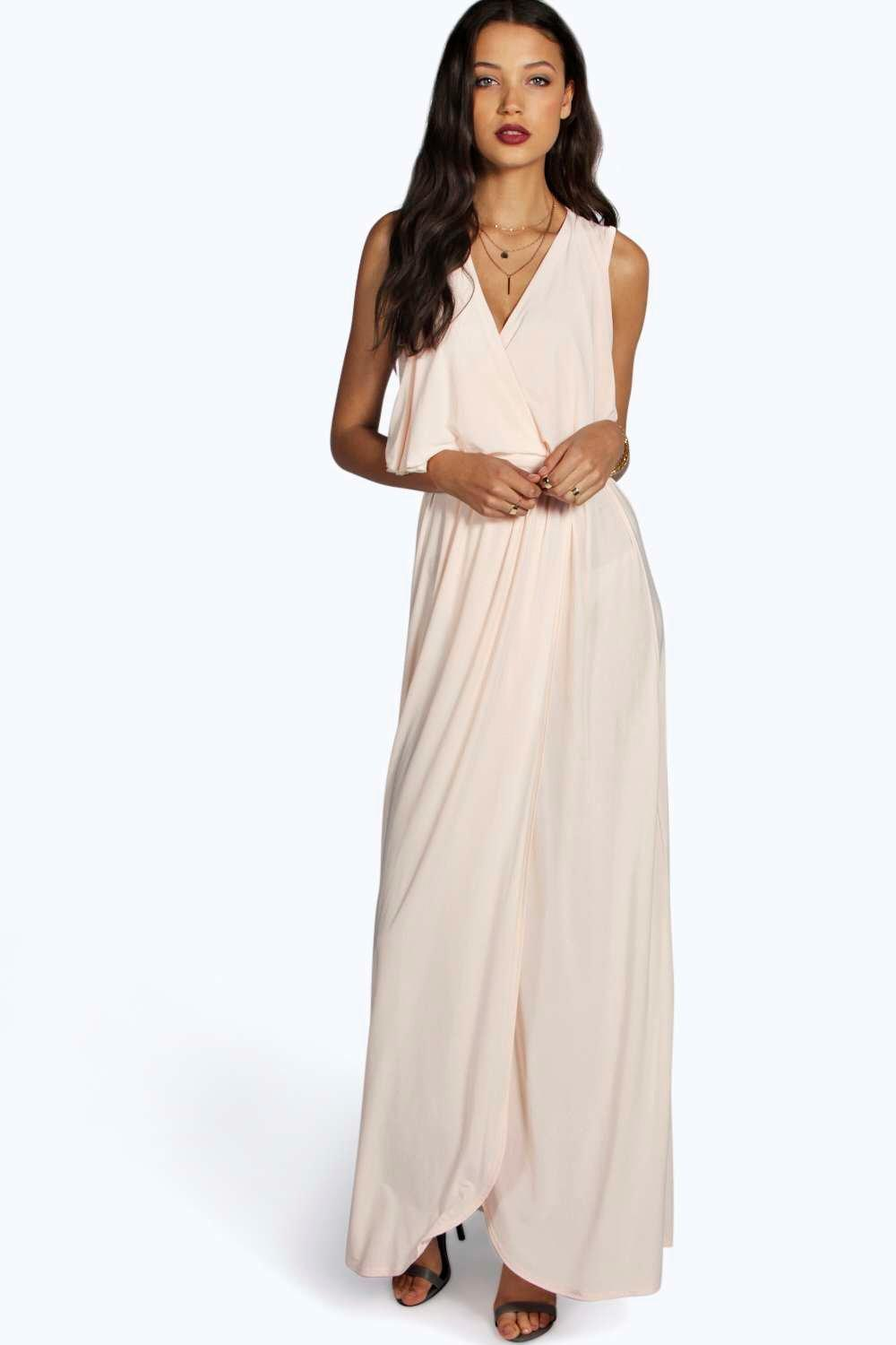 Tall Vera Drape Wrap Over Maxi Dress