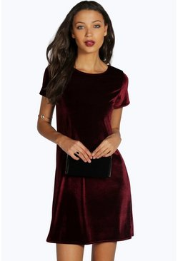 Tall Natalia Velvet Shift Dress