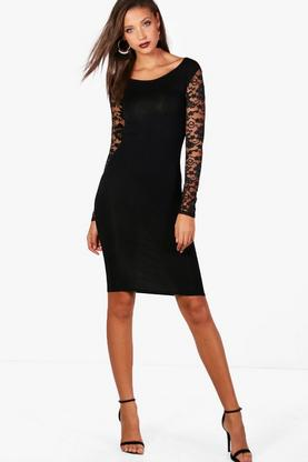 Tall Susie Lace Sleeve Mini Bodycon Dress