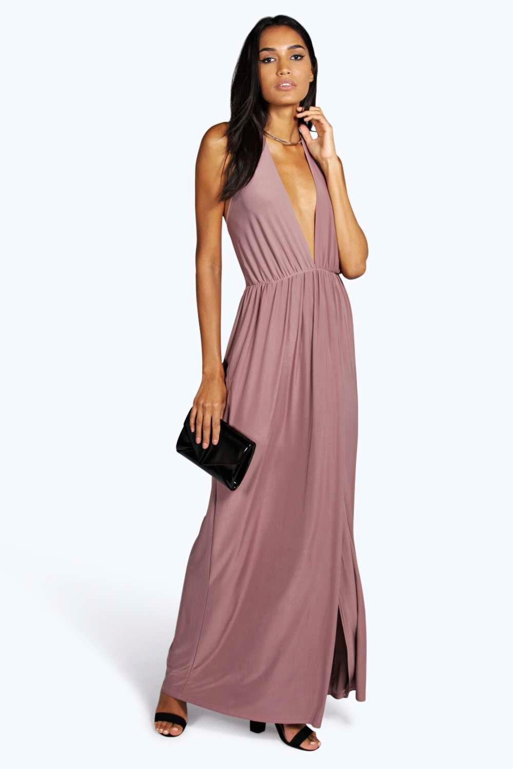Tall Mila Strappy Ruched Split Dress