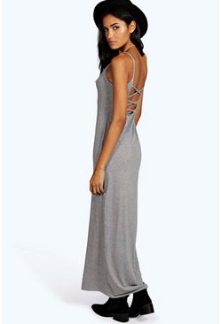 Tall Elina Slinky Cross Back Maxi Dress