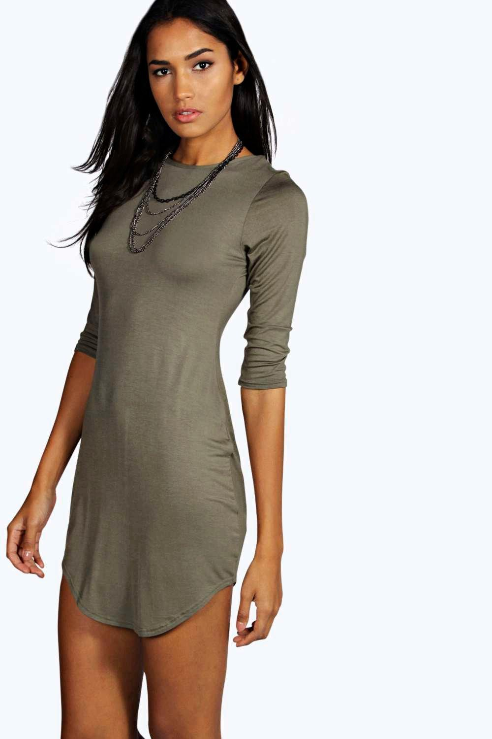 Tall Lorrie Curved Hem Basic Dress