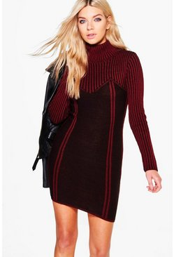 Georgia Rib Knit Bodycon Dress