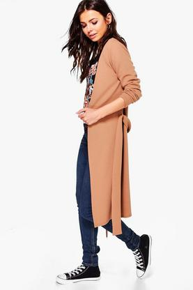 Hannah Belted Crepe Coat